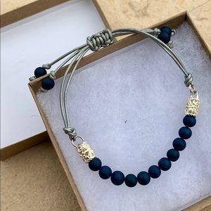 Sterling silver slip knot bracelet